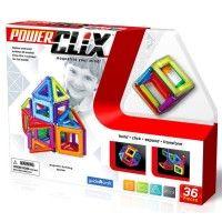 Power Clix 3D Magnetic 36 pc Building Kit