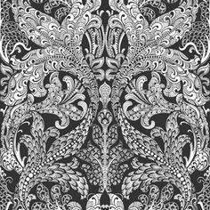 Engblad & Co Black & White Spirit 6089 Easy Up Tapeter - Tapet Geometric Wallpaper Murals, Wallpaper Panels, Wallpaper Roll, Wall Wallpaper, Luxury Wallpaper, Designer Wallpaper, Elephant Parade, White Spirit, Vintage Library