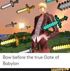Bow before the true Gate of Babylon - iFunny :) Reaction Pictures, Funny Pictures, Gate Of Babylon, Fate Quotes, Fate Characters, Fate Stay Night Anime, Critical Role Fan Art, Fate Anime Series, Fanart