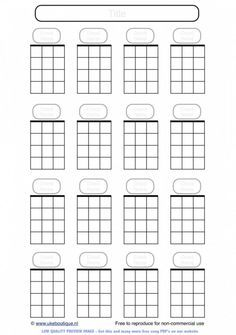 Blank Ukulele Chord Paper - handy for lefties