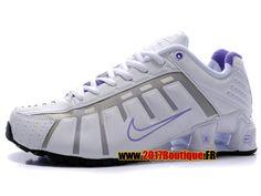 Nike Shox NZ O´Leven Chaussures Nike Sportswear 2017 Pas Cher Pour Femme Blanc / Gris / Violet