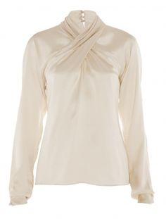 Temperley London Delilah Top in Beige (cream) Silk Satin Fabric, Temperley, Fashion Sewing, Clothes Horse, Dressmaking, Autumn Fashion, Feminine, Style Inspiration, London