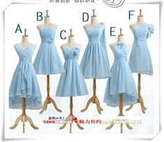 EV20 women evening dress cocktail bridesmaid blue flower girl lace up on Etsy, $25.99