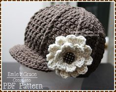 Newsboy Hat Crochet Pattern - SARA - via @Craftsy