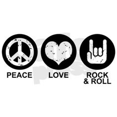 peace love and rock n roll | peace_love_rock_and_roll_bib.jpg?color=SkyBlue&height=460&width=460 ...