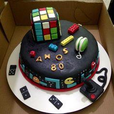 #Bolo #Anos80 #Cake #Fondant #80'