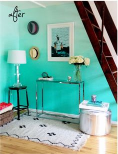 Trendy ombre wall paint. Learn how to DIY with the tutorial by P.S. - I made this: http://psimadethis.com/post/29048629455/between-crushes-fascinations-and-lust-have#