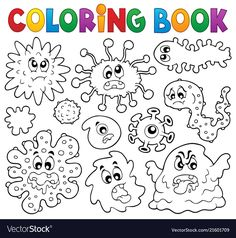 Alphabet Drawing Book Pdf Best Of Coloring Book Germs theme 1 Drawing Book Pdf, Alphabet Drawing, Coloring Pages For Boys, Free Coloring Pages, Coloring Books, Germs For Kids, Germ Crafts, Les Microbes, Preschool Activities