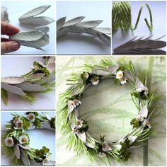 Egg Carton Craft - Easter Wreath #DIY #craft #Easter