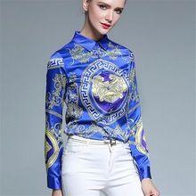 Mulheres blusas soltas elegante manga comprida blusa chiffon tops casual blusas camisa impressão plus size mulheres vintage clothing(China (Mainland))
