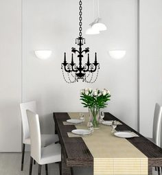 Can T Afford A Chandelier No Worries Use A Wall Decal Sticker To