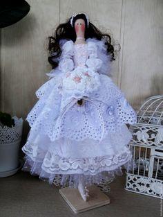 Купить Ангел Вечная Любовь интерьерная кукла тильда - белый, кукла ручной работы