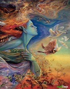 Josephine Wall - Spirit of Flight (detail) Back tattoo maybe?
