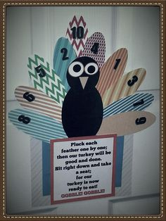 DIY Thanksgiving/Turkey Day countdown craft made for my kiddos.