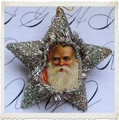 *The Graphics Fairy LLC*: Crafty Christmas Project - Santa Star Ornaments and Printable