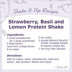 Great protein smoothie recipe!