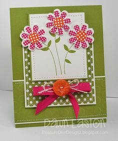 Spring Flowers Card By Dawn Eaton #Cardmaking