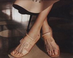 love these Tod's fringe sandals