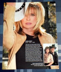 LINDA GRAY & CATHERINE OXENBERG 2-SIDED MAGAZINE PHOTO PINUP SCRAPBOOK CLIPPING