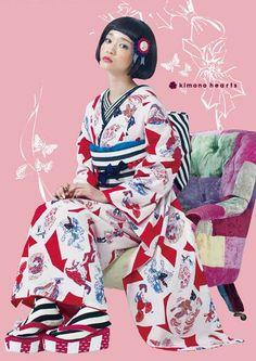 https://www.facebook.com/kimono.hearts.jp 襟開き