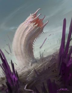 Wyrm of the Thystine Desert by AaronMiller.deviantart.com on @DeviantArt