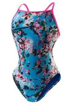 Sky Flower One Back - Speedo Endurance Lite - SPEEDO  - Speedo USA Swimwear