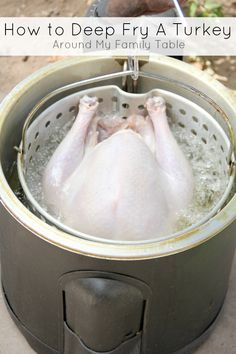 How to perfectly fry a turkey for Thanksgiving.