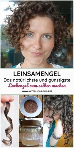 Linseed Gel - natural, cheap & easy to produce Leinsamengel – natürlich, günstig & einfach herzustellendes Lockengel. Perfect hair gel to define and style your natural curls. With step by step instructions. Curly Girls, Curly Hair Styles, Natural Hair Styles, Hair Care Recipes, Natural Hair Tutorials, Diy Hair Care, Natural Curls, Natural Beauty, Natural Waves