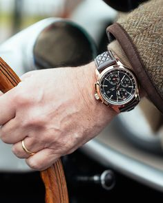 "Discover the new limited edition Ingenieur Chronograph Edition ""74th Members' Meeting at Goodwood"". The vintage character provides some surprising features and places the Ingenieur firmly in the tradition of the golden age of classic motor sport."