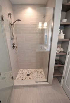 29 Popular Bathroom Shower Tile Design Ideas And Makeover. If you are looking for Bathroom Shower Tile Design Ideas And Makeover, You come to the right place. Here are the Bathroom Shower Tile Design. Diy Bathroom Decor, Bathroom Interior, Bathroom Shelves, Bathroom Organization, White Bathroom, Bathroom Mirrors, Bathroom Cabinets, Bathroom Renos, Bathroom Remodelling