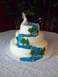 waterfall cake wedding cake | Wedding Cakes - Custom sweets for any event!