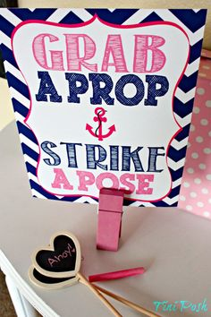 Nautical Grab a Prop & Strike a Pose- Printable (Now available in PINK!)
