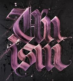 Dutch artist Niels Shoe Meulman combines calligraphy with graffiti to create his unique artworks. More lettering & typography via LLGD Calligraphy Types, Calligraphy Letters, Typography Letters, Copperplate Calligraphy, Cool Typography, Graphic Design Typography, Lettering Design, Calligraphy Wallpaper, Typographie Inspiration