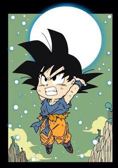 Chibi Goku! - Visit now for 3D Dragon Ball Z compression shirts now on sale! #dragonball #dbz #dragonballsuper