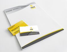 """Visiting Card and Letterhead for """"Venuehook"""" Stationary Design, Letterhead, Corporate Identity, Working On Myself, New Work, Company Logo, Behance, Gallery, Check"""