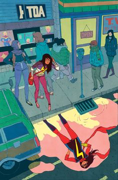 fykamalakhan:  MS. MARVEL #14 (April 2015)G. WILLOW WILSON (W) • TAKESHI MIYAZAWA (a)COVER BY JAKE PARKERWTD VARIANT COVER BY TBA• There's a new kid in town… and he's cute.• What are those feelings, Kamala Khan? It's called a crush.32 PGS./Rated T+ …$2.99  Cover by jakewyattriot. Not Jake Parker.