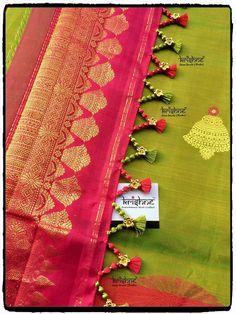 Beautiful DIY latkans / Tassels for blouse lehanga sarees Saree Tassels Designs, Saree Kuchu Designs, Saree Blouse Neck Designs, Fancy Blouse Designs, Lehanga Saree, Half Saree Lehenga, Saree Dress, Sarees, Saree Embroidery Design
