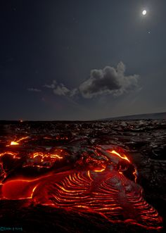 The lava fields of Kilauea, Hawaii