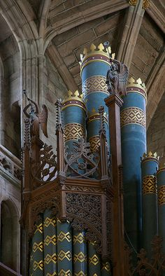Worcester Cathedral: Organ Pipes, they are huge.