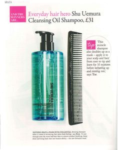 """In November, we were delighted to announce our Cleansing Oil Shampoo had been crowned 'Everyday Hair Hero' in the Grazia Beauty Awards!   """"Nothing beats a wash with this gentle detoxing shampoo when it comes to recreating that salon-fresh feeling. It cuts through even the worst bad-hair days to remove product build-up, boost shine and bring back that lost bounce-ability.""""   Have you tried it yet?  Find it in your nearest salon: http://www.shuuemuraartofhair.com/_en/_ww/home.aspx"""