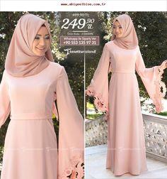 Tuay - Kolları Lazer Kesimli Somon Tesettür Abiye Elbise 2338SMN #tesettur #te..., #abiye #elbise #kesimli #kollar #lazer #somon #tesettur Islamic Fashion, Muslim Fashion, Modest Fashion, Fashion Outfits, Abaya Mode, Mode Hijab, Abaya Designs, Hijab Stile, Stylish Hijab