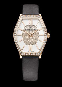Vacheron Constantin Malte Lady with diamond-set bezel (50 round-cut diamonds of approximately 0.96ct).