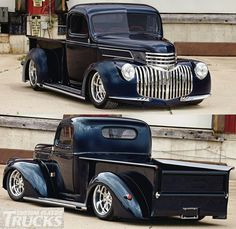 I've always wanted one of these old Chevy Pickups! 1946 Chevy Truck, Chevrolet Trucks, Gmc Trucks, Cool Trucks, Vintage Pickup Trucks, Classic Pickup Trucks, Old Chevy Pickups, Chevy S10, Us Cars