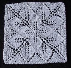 Ravelry: Silvermist Washcloth – Knitting patterns, knitting designs, knitting for beginners. Knitted Squares Pattern, Knitting Squares, Dishcloth Knitting Patterns, Knitting Stiches, Knit Dishcloth, Lace Knitting, Crochet Patterns, Knit Blanket Squares, Free Childrens Knitting Patterns