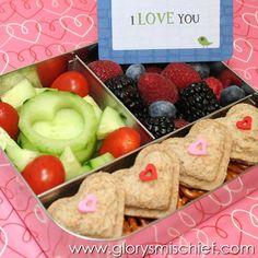 I love you kids school lunch -- Great Back To School Lunch Ideas.