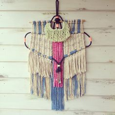 Ranrandesign #macrame #weaving using moroccan dyes