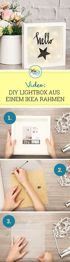 Ikea picture frames: From the Ikea Ribba frame to the trendy Light Box We show the . - Ikea picture frame: From the Ikea Ribba frame to the trendy light box We show you how you can make - Marco Ikea, Marco Diy, Ikea Photo Frames, Ikea Picture Frame, Cadre Photo Diy, Fun Crafts, Diy And Crafts, Frame Crafts, Baby Crafts