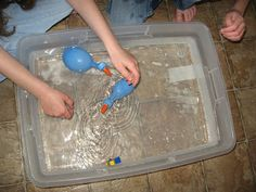Exploring the water can be propelled! Great for under the sea...