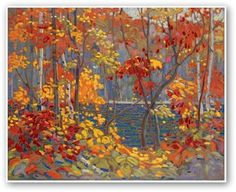 Tom Thomson - The Pool - I could look at this painting all day long! Should you ever be in Ottawa, make sure you go to the National Gallery and admire his work and the work of the Group of Seven Emily Carr, Group Of Seven Art, Group Of Seven Paintings, Canadian Painters, Canadian Artists, Tom Thomson Paintings, Oil Painting Reproductions, Stretched Canvas Prints, Famous Artists