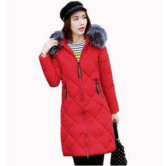 Winter coat women 2017 Fashion Cotton-Padded Coats With fur Collar hooded Female Winter jacket women Long Parka Outerwear RE0097. Yesterday's price: US $64.08 (52.96 EUR). Today's price: US $57.67 (47.66 EUR). Discount: 10%.
